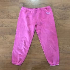 Victoria's Secret PINK pink Capri sweat pants